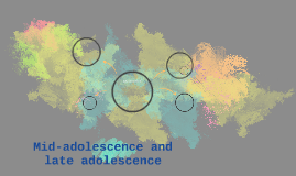 Mid-adolescence and late adolescence