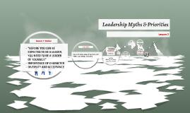 Leadership Myths & Priorities