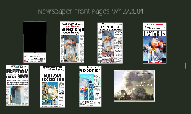September 11 Front Pages