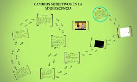 Copy of Cambios subjetivos de la adolescencia