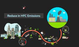 Reduce in HFC emission