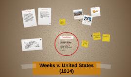 Weeks v. United States (1914)