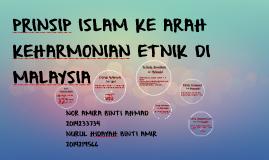 Copy of PRINSIP ISLAM KE ARAH KEHARMONIAN ETNIK DI  MALAYSIA