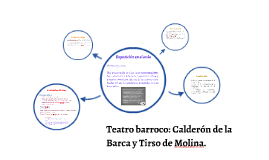 Teatro barroco: Calderón de la Barca y Tirso de Molina