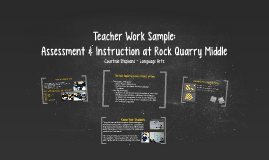 Teacher Work Sample: Assessment at Rock Quarry Middle