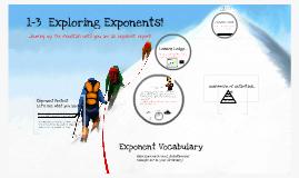 Copy of C1: 1-3 Exploring Exponents!