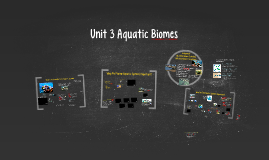 Unit 3- Aquatic Biomes Reg Env Sci