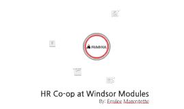 HR Co-op at Windsor Modules
