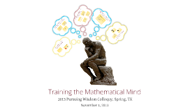 Training the Mathematical Mind - Spring, TX