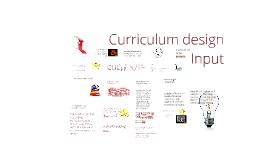 Copy of Curriculum design Input