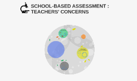 SCHOOL-BASED ASSESSMENT : TEACHERS' CONCERNS