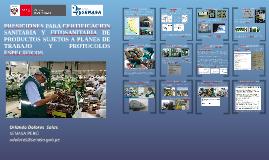 CERTIFICACION FITOSANITARIA DE PRODUCTOS VEGETALES