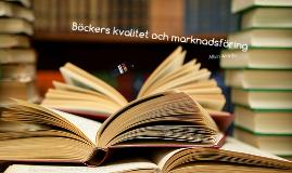 NP - Böckers kvalitet och marknadsföring
