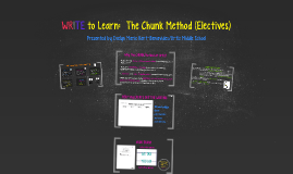WRITE to Learn: The Chunk Method (Electives)