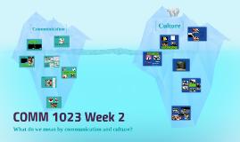 COMM 1023 Week 2/3