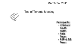 Top of Toronto Meeting (24-Mar-11)