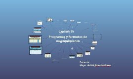 Programas y formatos de mantenimiento