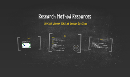 Research Method Resources