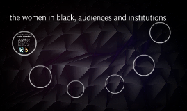 the women in black, audiences and insituions
