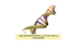 ADN ORGANIZACIONAL: LA CLAVE DE LA EJECUCIÓN