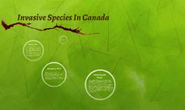 Copy of Invasive Species In Canada