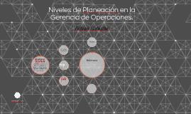 Niveles de planeación en la gerencia de operaciones.