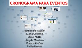 CRONOGRAMA PARA EVENTOS
