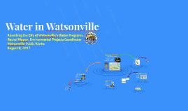 Water in Watsonville