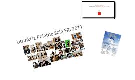 Poletna Šola FRI 2012