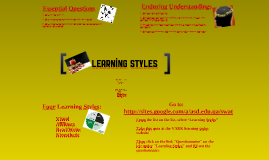 8th Grade Learning Styles