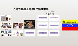 Actividades sobre Venezuela