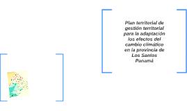 an territorial de gestión territorial para la adaptación los