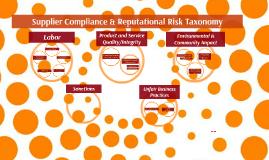 Risk taxonomy