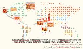 INTERNACIONALIZAÇÃO DA EDUCAÇÃO SUPERIOR: UM ESTUDO DA MOBIL