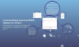 Contextualizing American Public Opinion on Torture