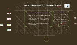 Les Sciences/Mathématiques à l'Université de Brest