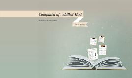 Complaint of Achilles' Heel