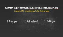Dialecten in het centrale Zuidnederlandse stedennetwerk