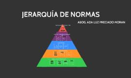 JERARQUÍA DE NORMAS