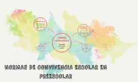 NORMAS DE CONVIVENCIA ESCOLAR EN PREESCOLAR