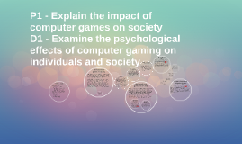 Copy of P1 - Explain the impact of computer games on society