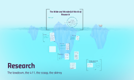 The Wide and Wonderful World of Research