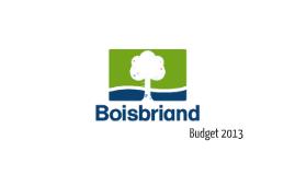 Présentation budgétaire 2013