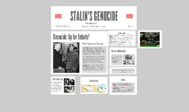 STALIN'S GENOCIDE