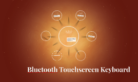 bluetooth touchscreen keyboard