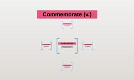 Commemorate (v.)