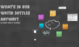 What's in our Water bottles anyway?