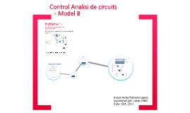 Control Anàlisi de circuits - Problema 1 (Model B)