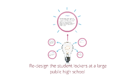 Re-design the student lockers at a large public high school