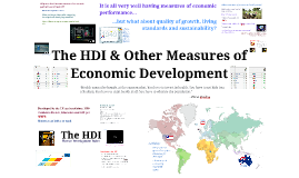 The HDI & other measures of economic development
